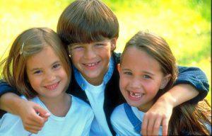 Novastock. A group of friends together. Child, children, boy, girl, family, kids, summer, fun